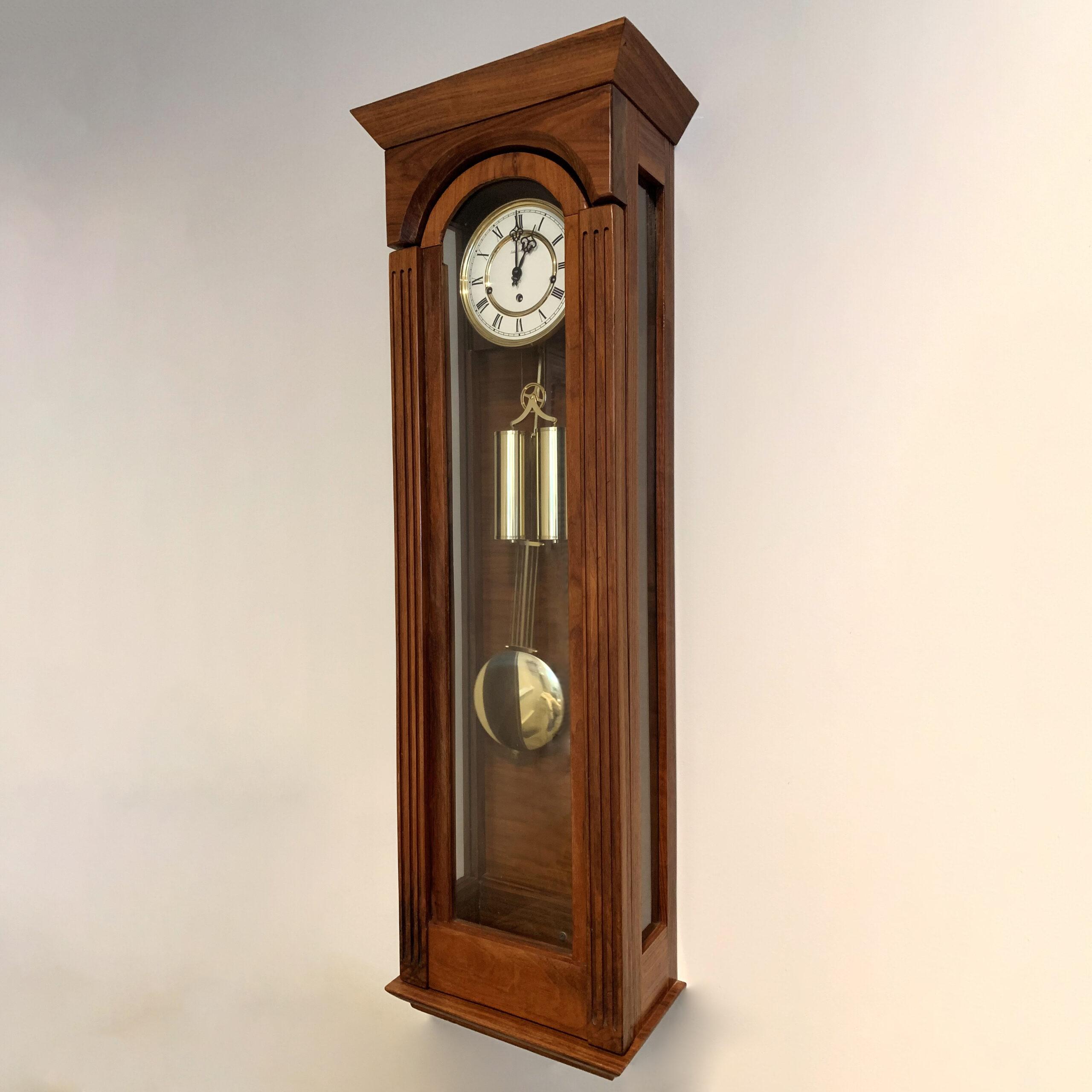 Grandmother Wall Clock- Walnut, Glass
